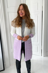 Jade Knit Cardigan - Purple
