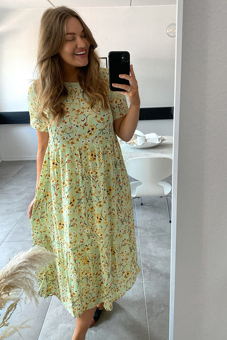 Sunny SS Midi Dress - Pastel Green