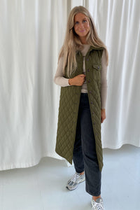 Maluca Vest - Quilted Green