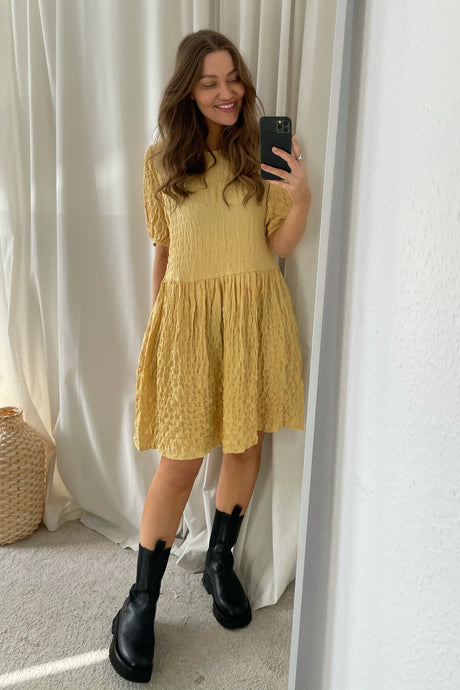 Nimmer 2/4 Dress - Yellow