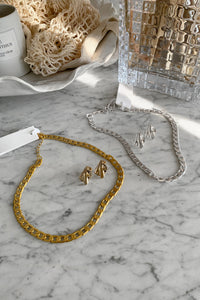 Efj Cuban Link Necklace - Gold Colour