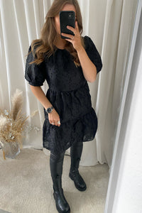 Sierra Babydoll Dress - Black