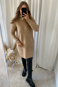 Jana L/S Dress Wool - Indian Tan
