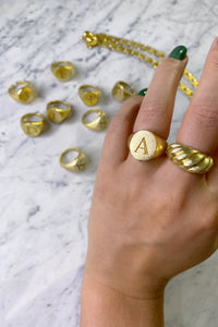 Wave Ring - Gold Plated