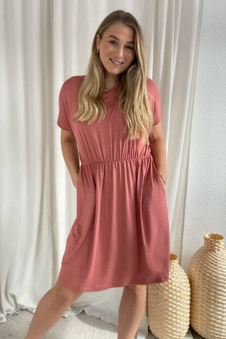 Petrine SS Dress - Rose