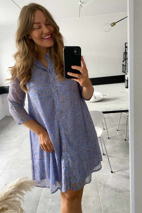 Nelly Shirt Dress - Vista Blue