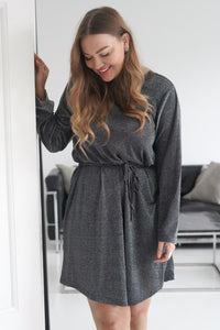 Silje Dress - Sparkling Grey Silver