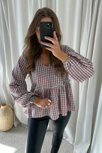 Michas Long Sleeved Blouse - Pink