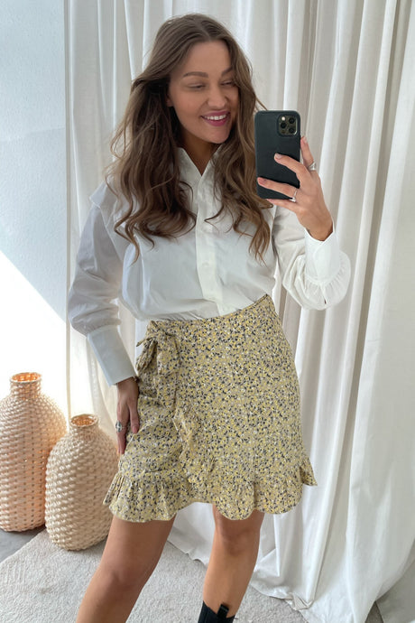 Lovie Wrap Skirt - Humus