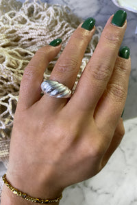Wave Ring - Silver Plated