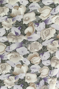 Agnes Dress - Purple Flower Print