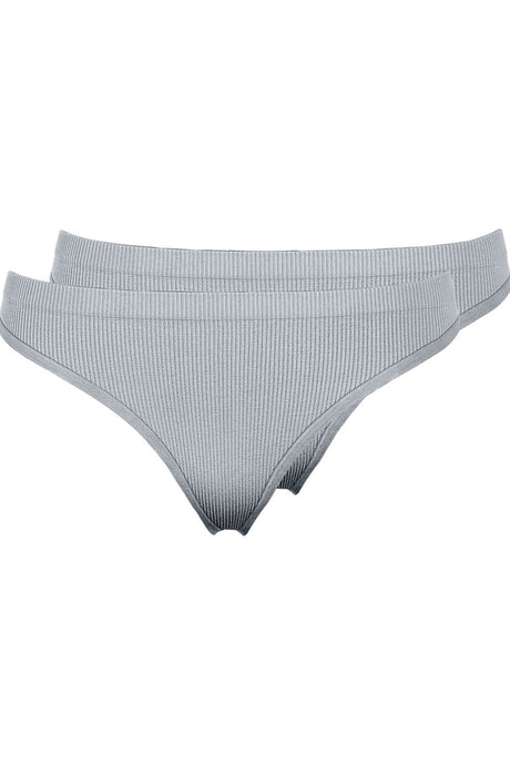 Symmi Rib Thong 2 Pack - Light Grey