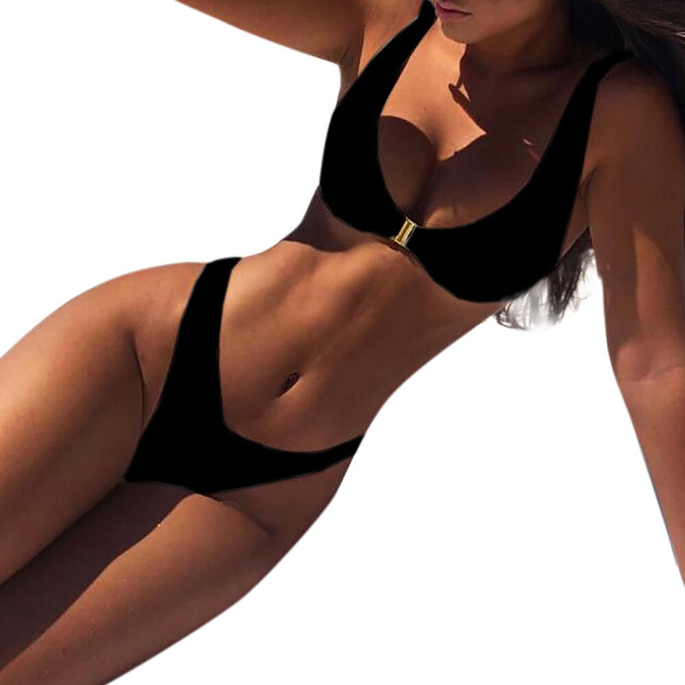 Women Bandage Beach Set Push-Up Brazilian Swimwear