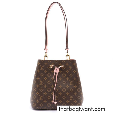 Rose Poudre Monogram Canvas Neonoe MM (Rented Out)