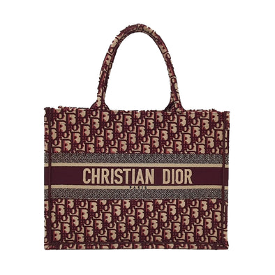 Burgundy Dior Oblique Small Book Tote (Rented Out)