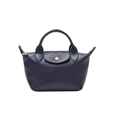 Navy Le Pliage Cuir Webbing Mini Bag (Rented Out)