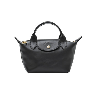 Noir Le Pliage Cuir Webbing Mini Bag