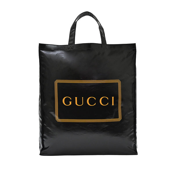 Black Gucci Print Medium Tote