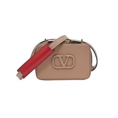 Bay Pink Vsling Smooth Calfskin Crossbody Bag