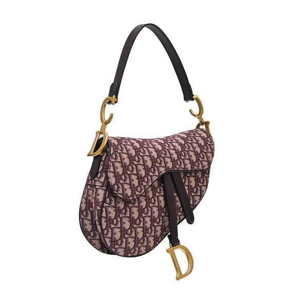 Burgundy Dior Oblique Saddle Bag (Rented Out)