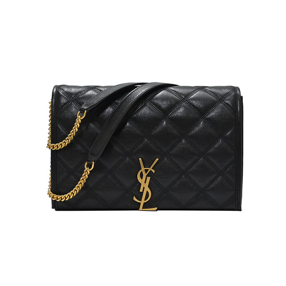 Black Becky Quilted Lambskin Mini Chain Shoulder Bag - 2 (Rented Out)