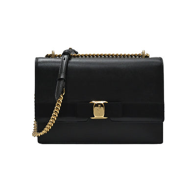 Black Vara Bow Medium Shoulder Bag