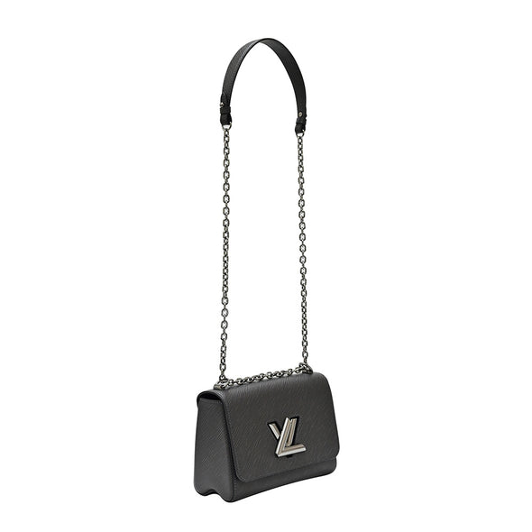 Noir Epi Twist MM Shoulder Bag (Rented Out)