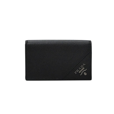 Nero Saffiano Leather Card Holder (Rented Out)