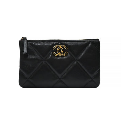 Black Nappa Chanel 19 Pouch (Rented Out)