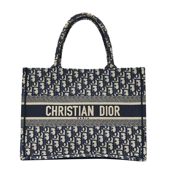 Blue Dior Oblique Small Book Tote (Rented Out)