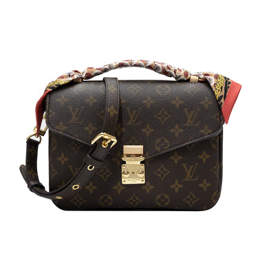 Monogram Canvas Pochette Metis with Bubblegram BB Bandeau (Rented Out)