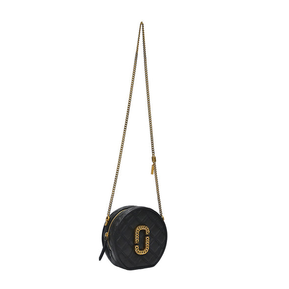 Black The Status Round Crossbody Bag (Rented Out)