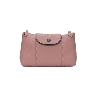 Antique Pink Le Pliage Cuir Crossbody Bag