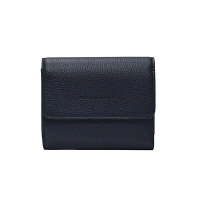 Navy Le Foulonne Compact Wallet