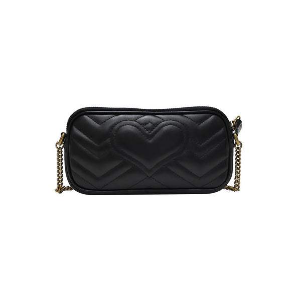 Black GG Marmont Matelasse Mini Bag (Rented Out)