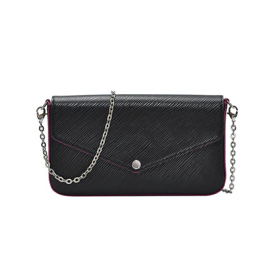 Noir Epi Leather Felicie Pochette (20% Rental Promotion)