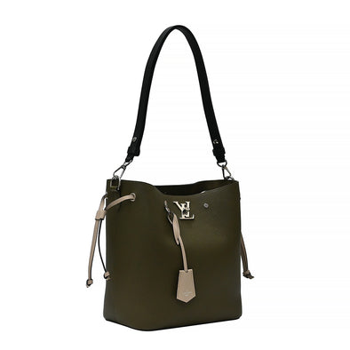 Laurier Toffe Latte Black Lockme Bucket Bag (Rented Out)