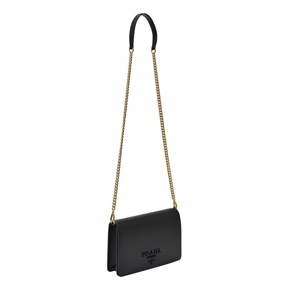 Nero Saffiano Leather Mini Bag