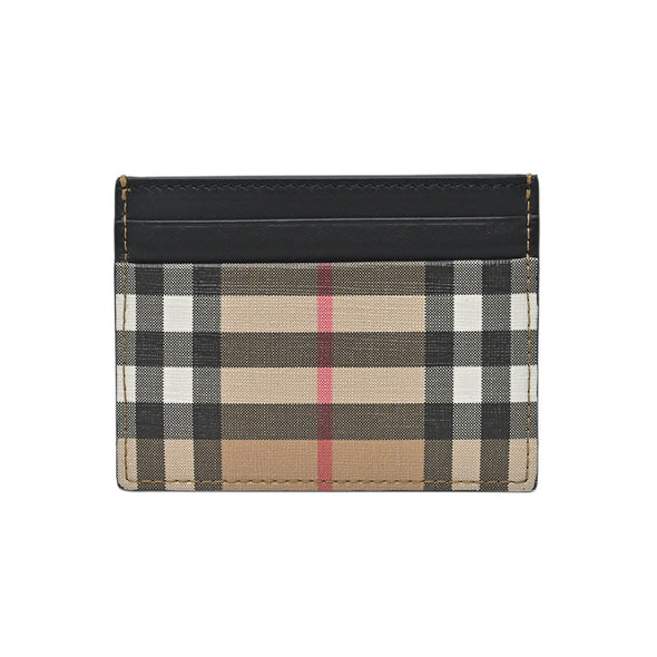 Vintage Check E-canvas and Leather Card Case