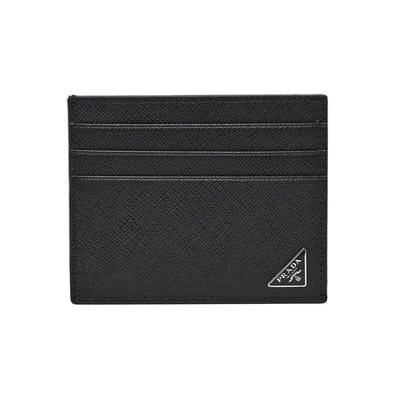 Noir Saffiano Leather Card Holder