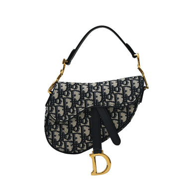 Blue Dior Oblique Mini Saddle Bag (Rented Out)