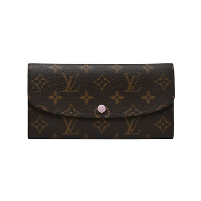 Rose Ballerine Monogram Canvas Emilie Wallet (Rented Out)