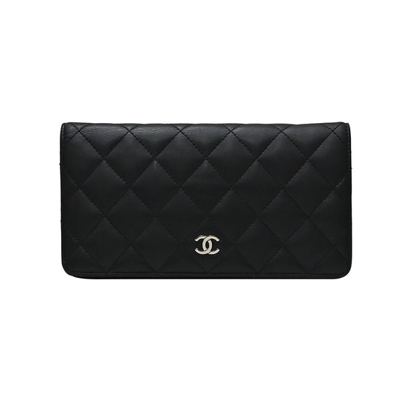 Black Nappa Classic Long Wallet (Rented Out)