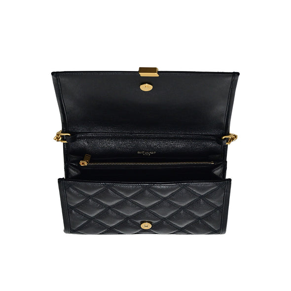 Black Becky Quilted Lambskin Chain Wallet - 2 (Rented Out)