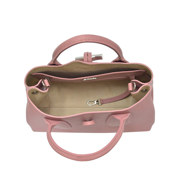 Antique Pink Roseau Top Handle Bag M