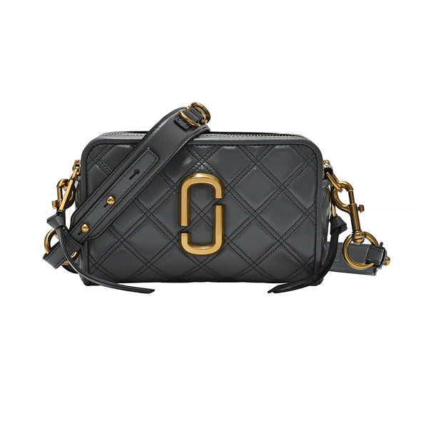 Dark Grey Quilted Softshot 21 Crossbody Bag (Rented Out)