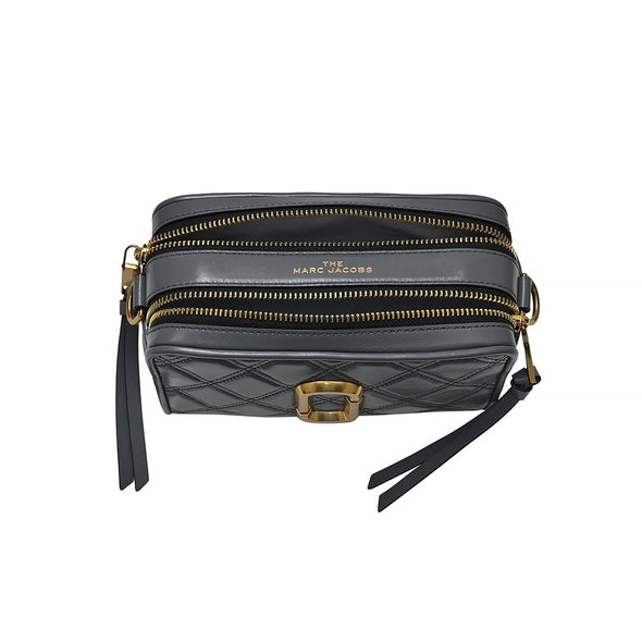 Dark Grey Quilted Softshot 21 Crossbody Bag - 2