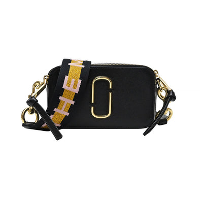 New Black Multi Logo Strap Snapshot Camera Bag - 2
