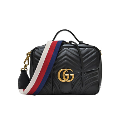 Nero GG Marmont Matelasse Shoulder Bag (Rented Out)