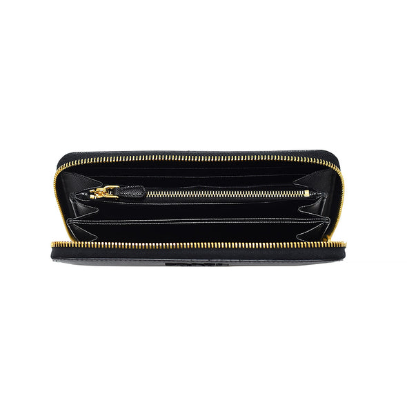 Nero Saffiano Corner Zip Around Wallet (Rented Out)